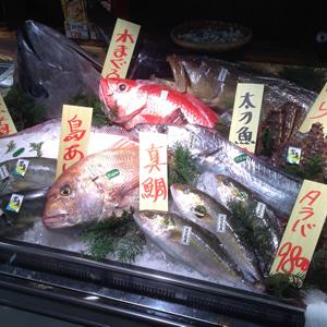 魚を捌く画像